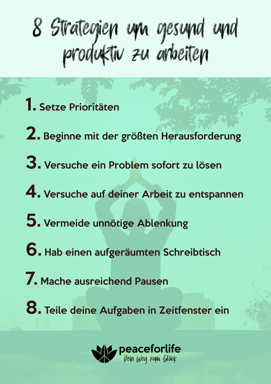 8 Strategien um gesund und produktiv zu arbeiten